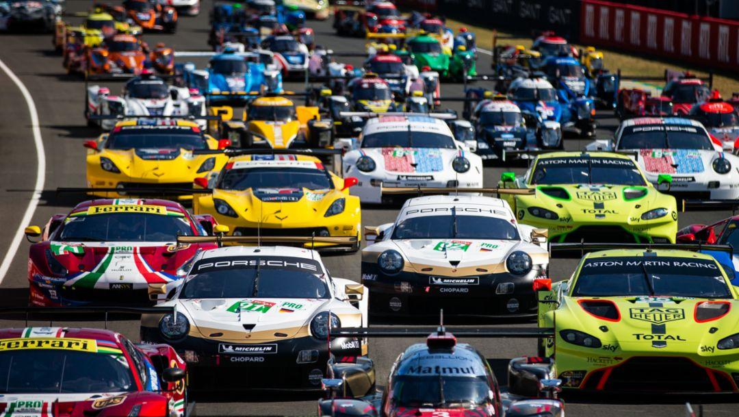 911 RSR, Porsche GT Team (92), Vortests zu den 24 Stunden von Le Mans, 2019, Porsche AG