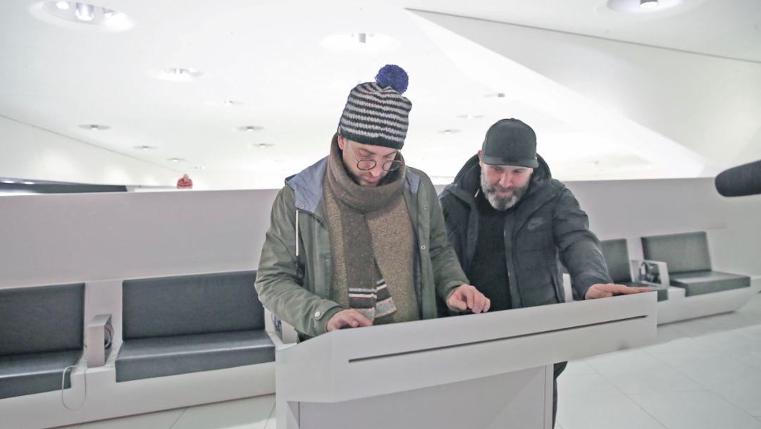 Duan Wasi, Niko Hüls, Backspin, l-r, Back to Tape, Stuttgart, 2018, Porsche AG