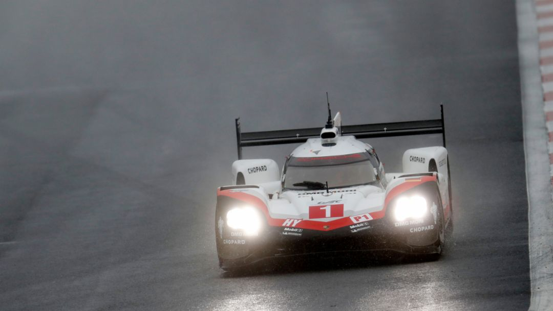 The Porsche 919 Hybrids lock out front row in Fuji