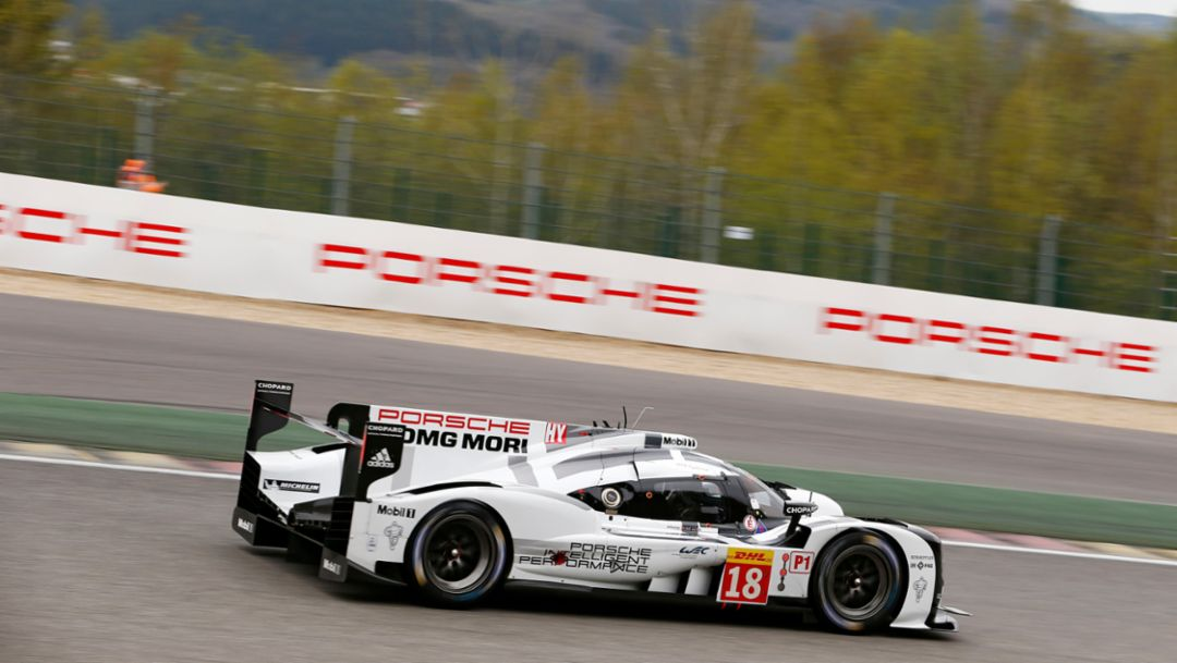 Porsche 919 Hybrids dominate in Spa