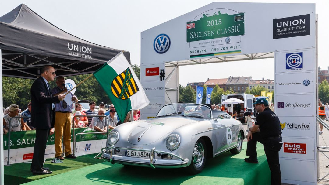 Porsche at the 2015 Sachsen Classic