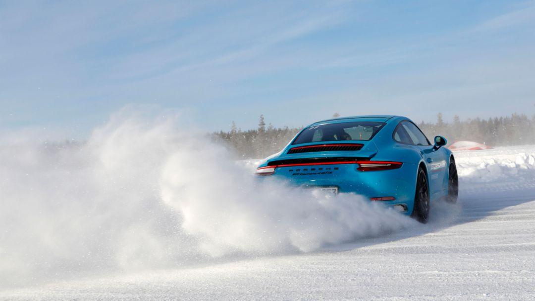 911 Carrera 4 GTS, Porsche Ice Experience, Levi, Finnland, 2018, Porsche AG