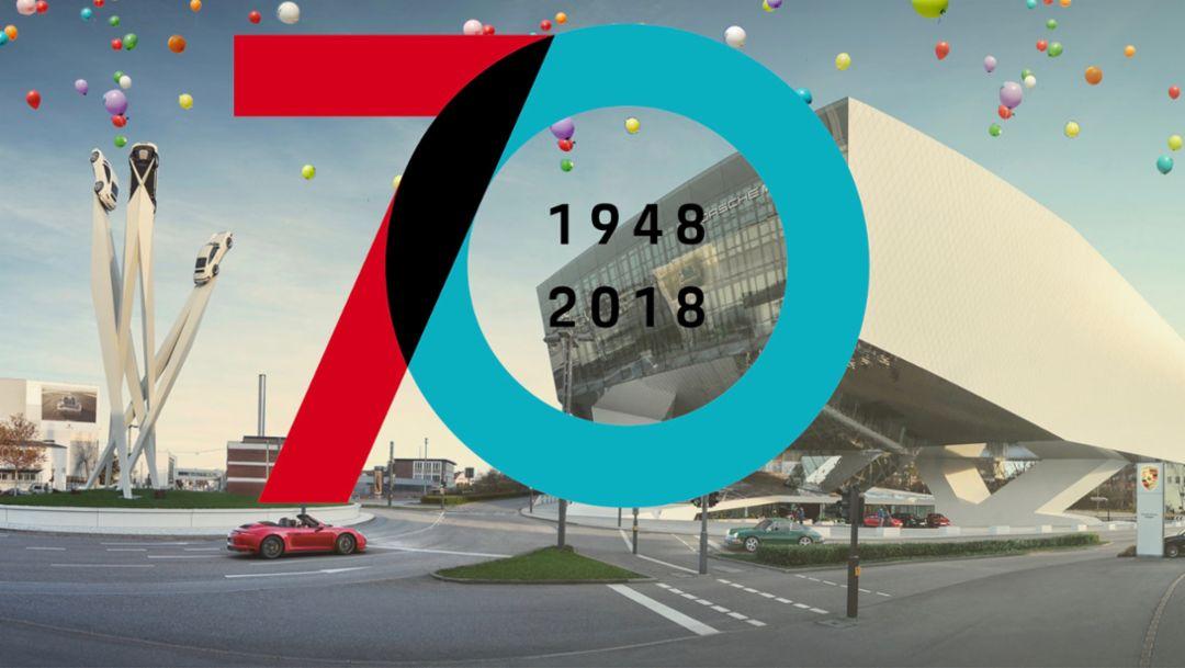 """Sonderausstellung """"70 Jahre Porsche Sportwagen"""", 2018, Porsche AG"""