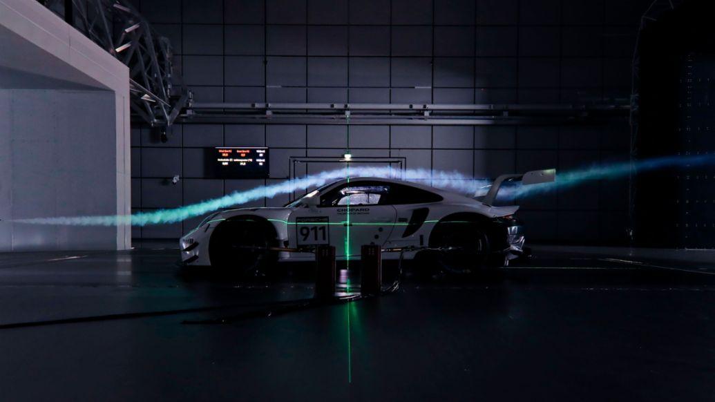 911 RSR (2019 model year), Porsche wind tunnel, Weissach, 2019, Porsche AG