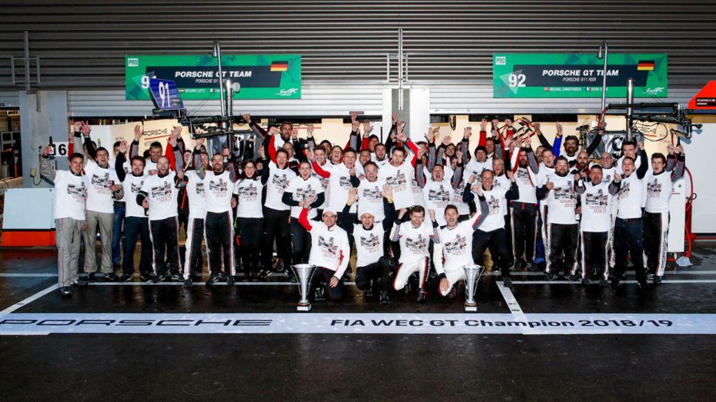 Porsche GT Team, World champion FIA-WEC, Spa-Franchorchamps, 2019, Porsche AG