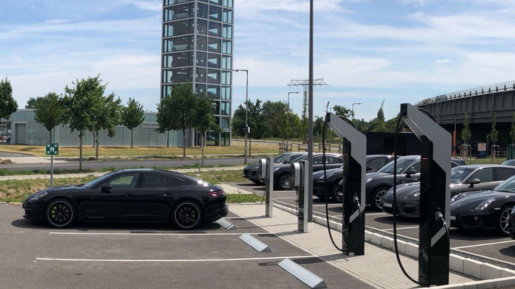 Porsche fast charging park, Berlin-Adlershof, 2018, Porsche AG
