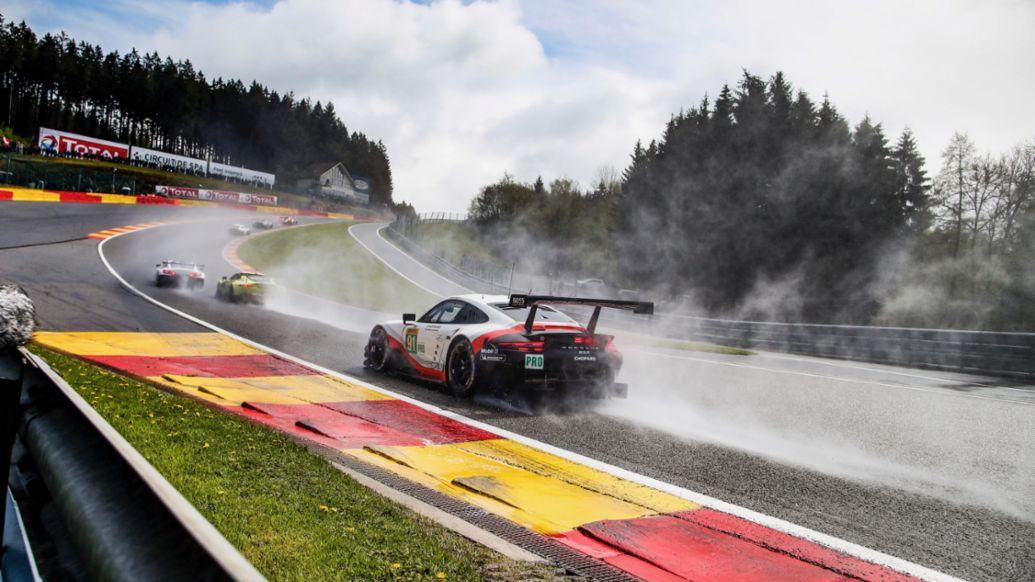 Michael Christensen, Kevin Estre, Porsche 911 RSR, FIA-WEC, Spa-Franchorchamps, 2019, Porsche AG