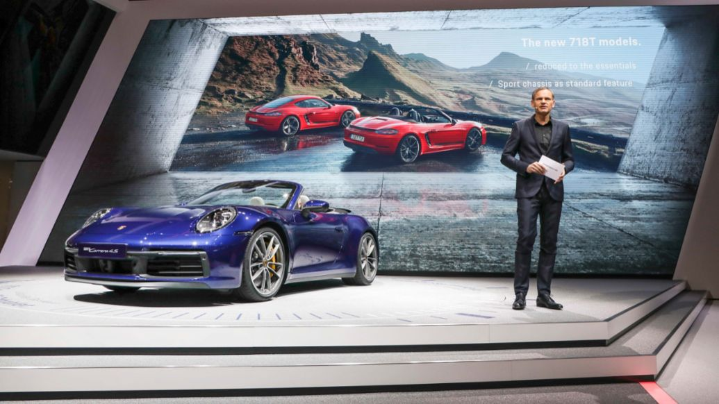 Oliver Blume, 911 Cabriolet, Internationaler Automobil-Salon Genf, 2019, Porsche AG