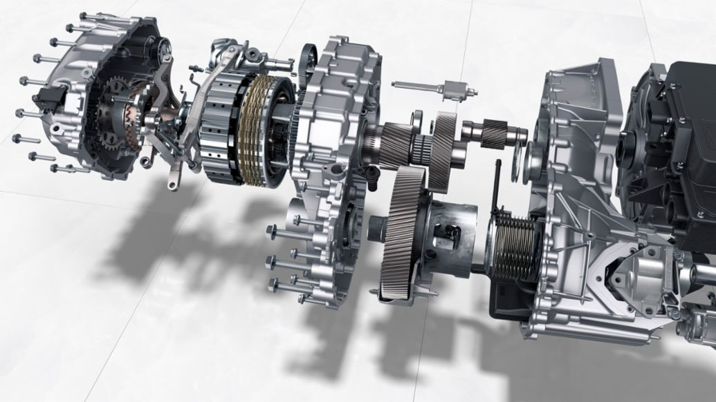 Taycan: Two-speed transmission on the rear axle, 2019, Porsche AG