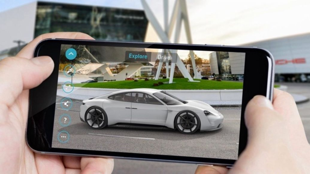 """Mission E Augmented Reality"" app, 2019, Porsche AG"