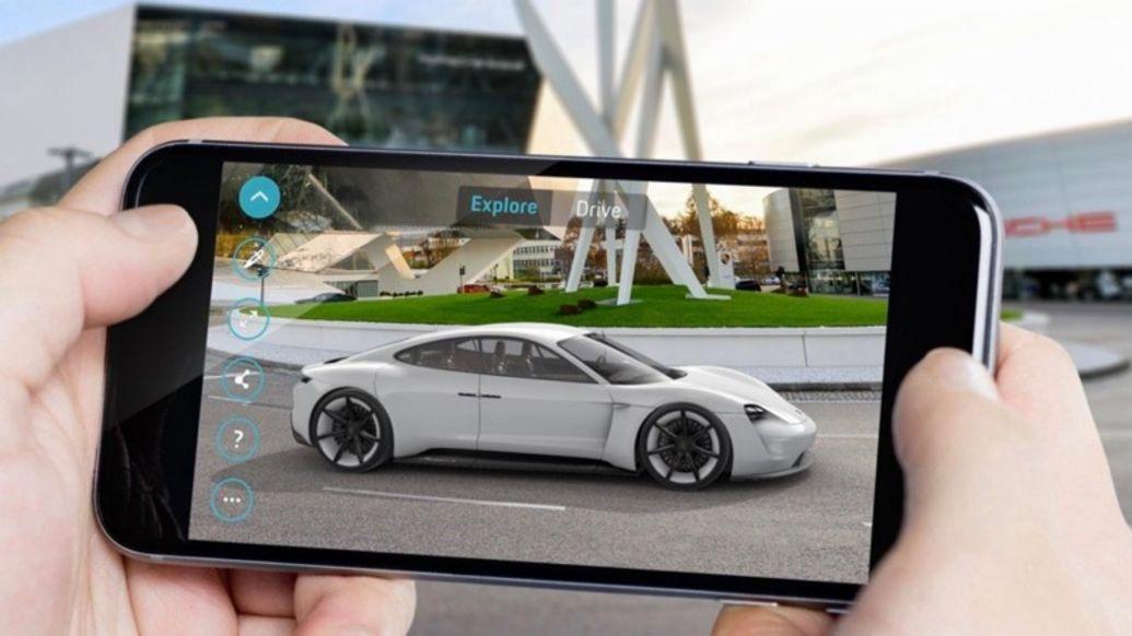 """Mission E Augmented Reality"" App, 2019, Porsche AG"