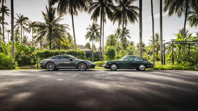 911 Carrera S (992), Porsche 912, l-r, Thailand, 2019, Porsche AG