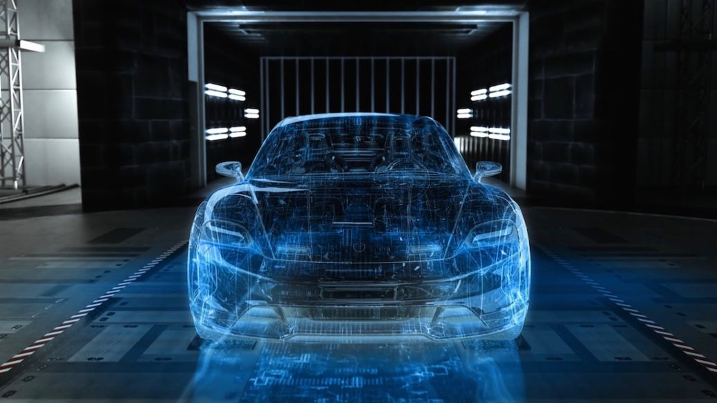Digital vehicle development, 2019, Porsche AG