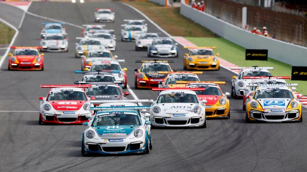 Start, Michael Ammermüller, Porsche Mobil 1 Supercup Barcelona 2015, Porsche AG