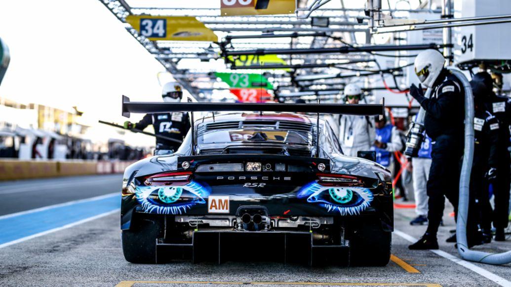 911 RSR, Team Project 1 (56), Vortests zu den 24 Stunden von Le Mans, 2019, Porsche AG