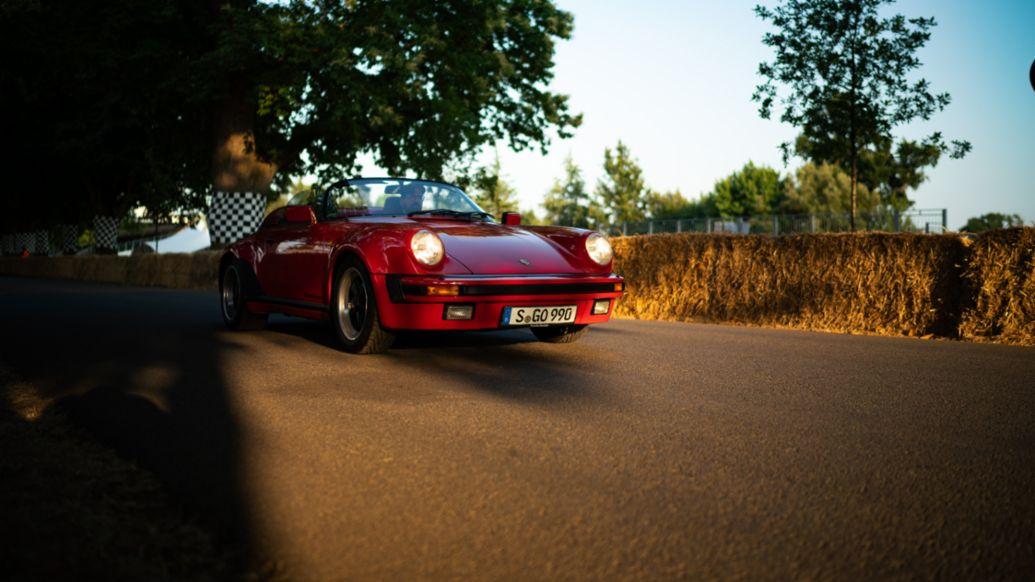 911 Carrera 3.2 Speedster (1989), Journey to Goodwood, 2018, Porsche AG