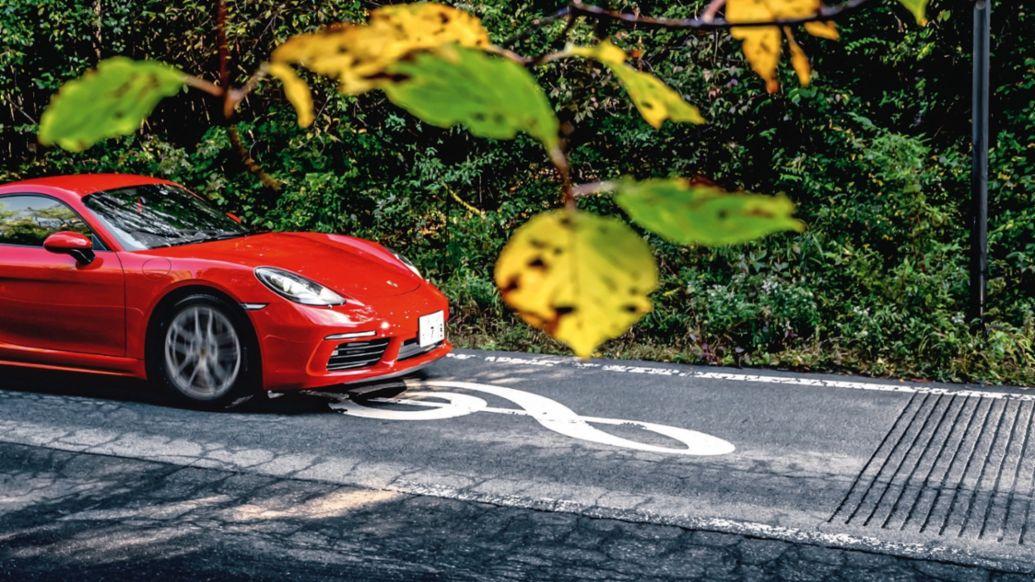 718 Cayman, Melody Roads, Japan, 2018, Porsche AG