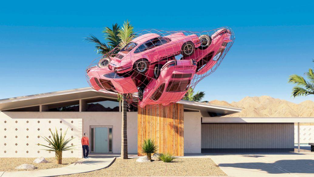 Kunstwerk von Chris LaBrooy, 2017, Porsche AG