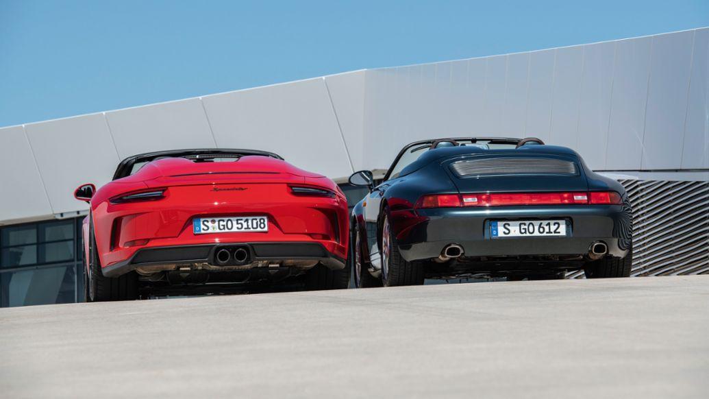 911 Speedster, roof terrace of the Porsche Museum, 2019, Porsche AG
