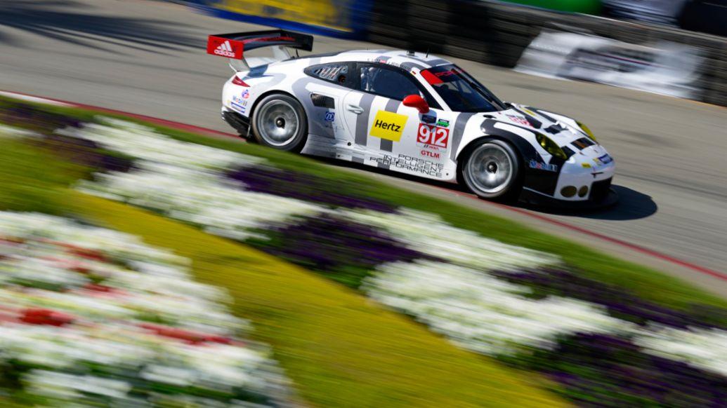 Porsche 911 RSR, Porsche North America, Tudor United SportsCar Championship, USA/Long Beach, 04/18/2015, Porsche AG
