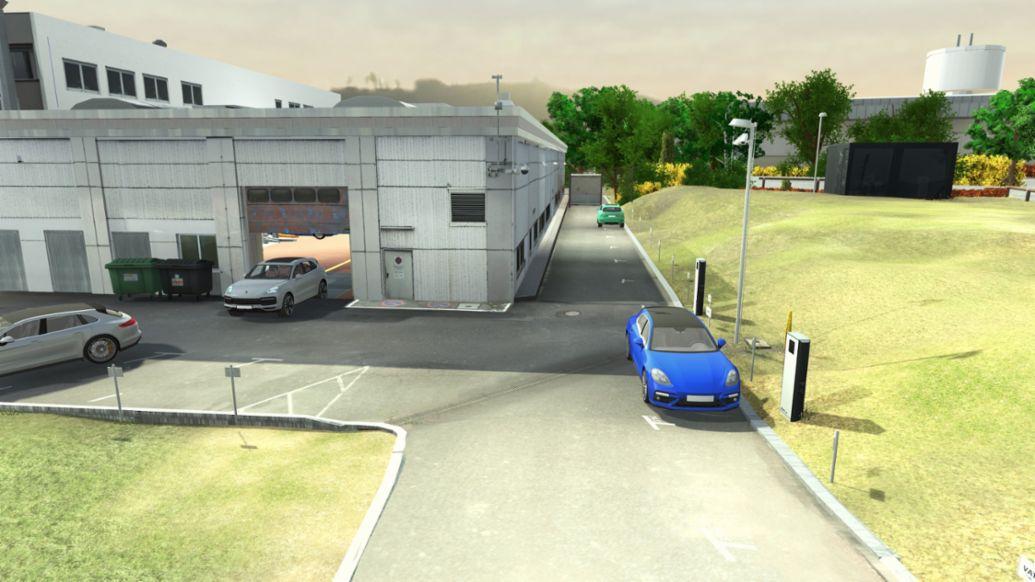 Виртуальное изображение территории сервисного центра, 2019, Porsche AG