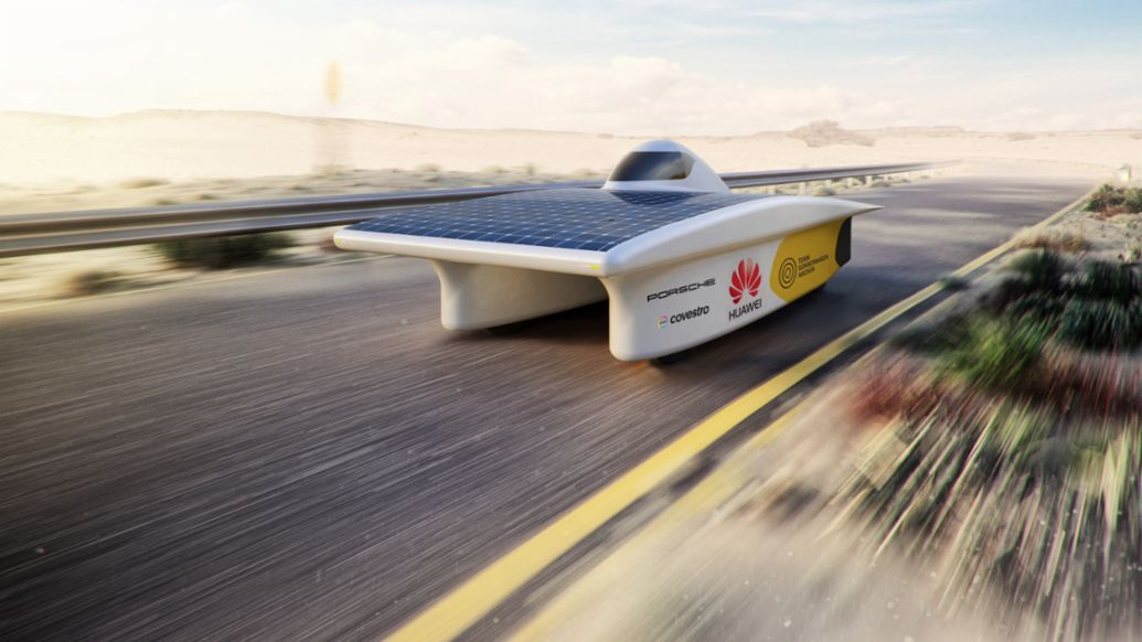 Solar-powerd vehicle, Team Sonnenwagen by RWTH Aachen, 2017, Porsche AG