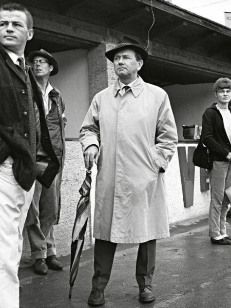 Hans Mezger, Peter Falk, Ferry Porsche, l-r, 1962, Porsche AG