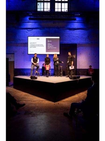 Daniela Rathe, Director Politics and External Affairs (third from the left), Startup Autobahn Expo Day 7, Stuttgart, 2020, Porsche AG