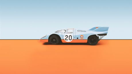 A glorious, colourful mixture: the different liveries of the 917 models