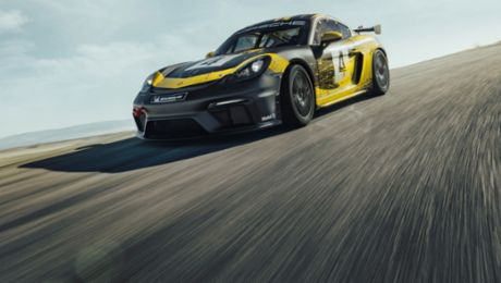 New Cayman GT4 Clubsport with natural-fibre body parts