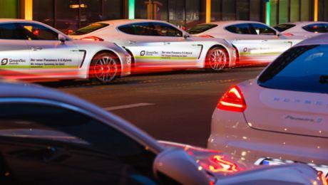 Im grünen Porsche zu den GreenTec Awards