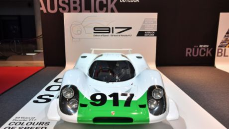 "Special exhibition: Porsche celebrates ""50 years of the 917"""