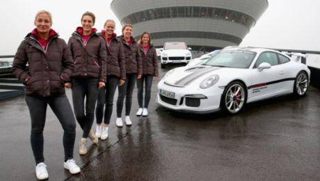 Germany's tennis women guests of Porsche