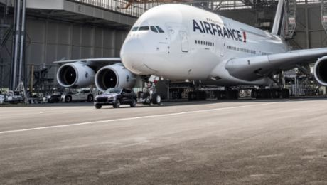 Air France and Porsche: New Guinness World Records title