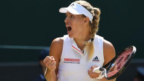 Angelique Kerber in Wimbledon final