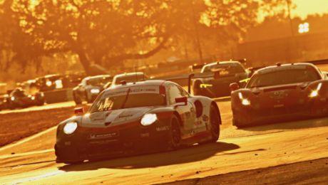 Sieg und Platz drei für Porsche in Sebring