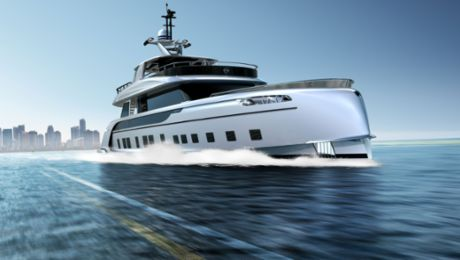 Hybrid superyacht celebrates its world premiere