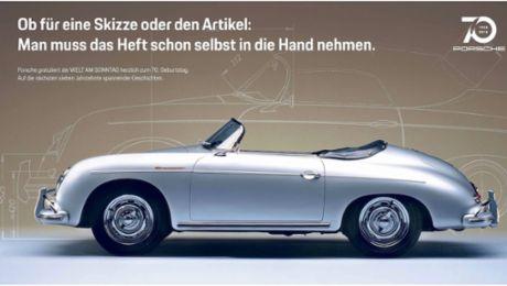 Porsche und Welt am Sonntag in Aktion vereint