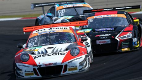 ADAC GT Masters: Three Porsche 911 GT3 R in the top ten