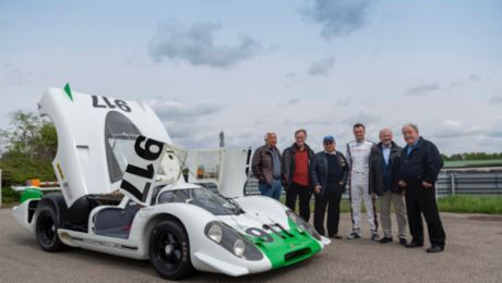 The Porsche 917-001 in motion: Makers' day