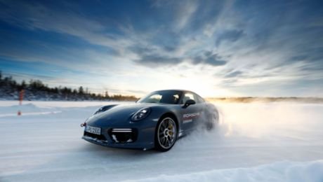 On the attack: Porsche Ice Experience in Finland