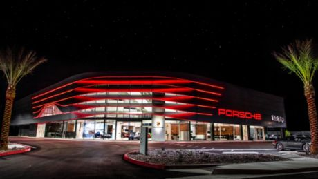 Porsche dealerships receive new corporate architecture