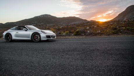 Test driving the new Porsche models