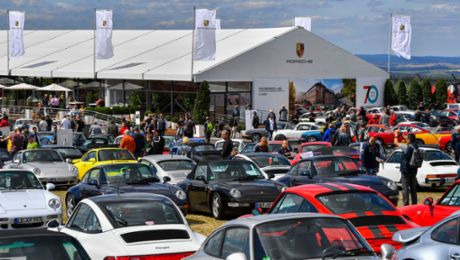 """70 years of Porsche sports car"" at Oldtimer Grand Prix"