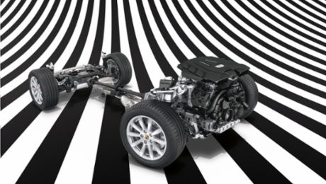 Transverse Dynamics of the Cayenne Turbo S E-Hybrid