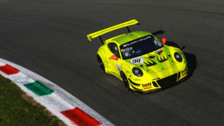 Difficult start to the season for the 911 GT3 R at Monza