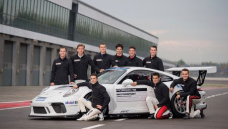 Talented youngsters pursue a professional motor racing career
