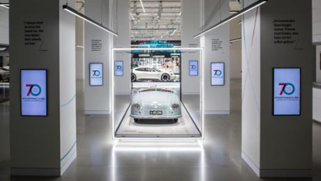 "The ""70 years of the Porsche sports car"" exhibition"