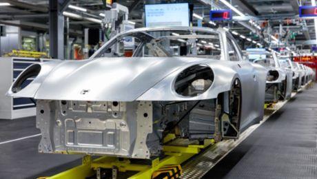 Innovative Karosseriefertigung beim neuen 911