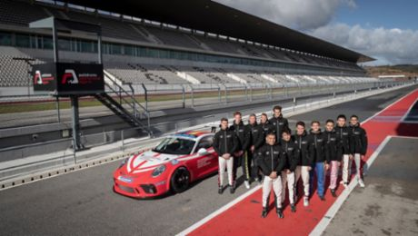 Twelve candidates have one goal: New Porsche Junior in the Supercup